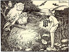 """Art by Alice Newby (c 1920) - """"Will O Wisp."""""""