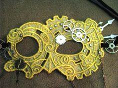 Beautiful steampunk lace mask. $40