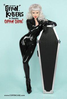 Coffin Killers miss mosh Miss Mosh, Russian American, Rockabilly Fashion, Rockabilly Style, Dress Up Dolls, Creepy Cute, Latex Fashion, Unique Outfits, Pin Up Girls