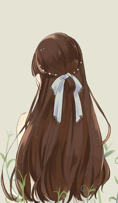 When you care for your hair your whole life changes. Good hair tells other people that you are put together. Cool Anime Girl, Pretty Anime Girl, Beautiful Anime Girl, Kawaii Anime Girl, Anime Art Girl, Cartoon Girl Images, Cartoon Art Styles, Girl Cartoon, Girly Drawings