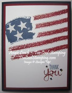 Work of Art Wavy Flag CASE from The Stamp Doc - work of art, dazzling diamonds glimmer paper, stars  stripes, flag, old glory, 4th of july, independence day, july 4th, thank you, military, stampin up, cards  Details at www.toocoolstamping.com