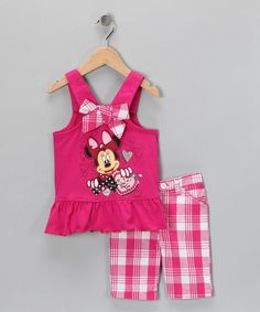 Take a look at this Red Minnie Mouse Tank & Shorts - Toddler by Disney on #zulily today!