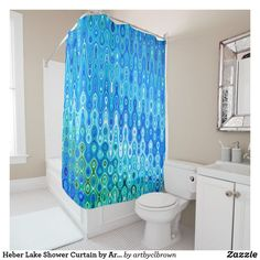 Heber Lake Shower Curtain By Artist C L Brown Zazzle Com
