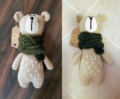 Oliver the Bear Free Amigurumi Crochet Pattern - Stuffed Hearts Crochet Patterns Amigurumi, Crochet Dolls, Crochet Bear, Free Crochet, Crochet Crafts, Crochet Projects, Dou Dou, Tsumtsum, Crochet Abbreviations