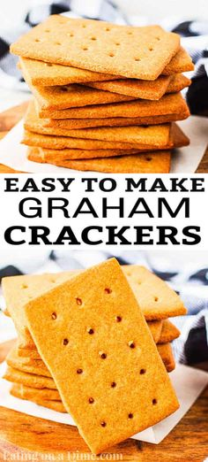 You have to try this fun homemade graham crackers recipe. They are fun and easy to make with the kids. Once you have homemade, you'll never turn back! Graham Cracker Recipes, Homemade Graham Crackers, No Cook Desserts, Health Desserts, Health Foods, Easy Desserts, Pumpkin Dessert, Pumpkin Cheesecake, Raspberry Cheesecake