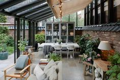 Style and Create — Details from the hotel Ett Hem [a home] in. - Style and Create — Details from the hotel Ett Hem [a home] in… - Indoor Outdoor Living, Outdoor Rooms, Sunroom Addition, Green Rooms, Glass House, Backyard Patio, Home Deco, Future House, Interior And Exterior