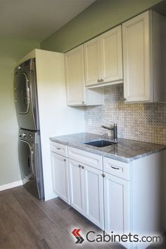 That's how you fit a laundry room into a small space inside a mother-in-law suite! #storage