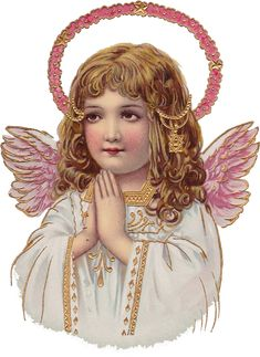 Wings of Whimsy: Sweet Pink Girl Cherub PNG (transparent background) - free for your personal use Victorian Angels, Victorian Christmas, Vintage Christmas, Vintage Ephemera, Vintage Cards, Christmas Angels, Christmas Art, Vintage Pictures, Vintage Images