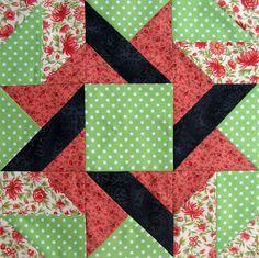 Starwood Quilter: Frolic Variation Quilt Block