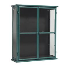 Turquoise keep-sake wall cabinet for your treasures or to display your collectibles! Small Glass Display Cabinet, Small Display Cases, Luxury Furniture, Antique Furniture, Bathroom Furniture, Discount Designer, Locker Storage, Interior Design, Home Decor