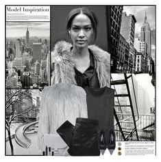 """Model Inspiration: Joan Smalls"" by kittyfantastica ❤ liked on Polyvore featuring Beardbrand, Calvin Klein Collection, WithChic, Halston Heritage, MW Matthew Williamson, Manolo Blahnik, CARGO and Giorgio Armani"