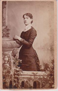 Antique CV Photograph Thin Woman Ivy and by NotDeadEphemera