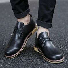 Man Casual Shoes Big Size Men Leather Shoes Good Quality Male PU Shoes Fit Spring Autumn Soft Leisure Zapato hombres