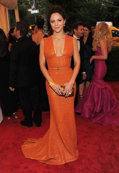 Katharine McPhee in ELIE SAAB Ready-to-Wear Spring 2012 at the Met Gala. i love her and she looks fantastic.