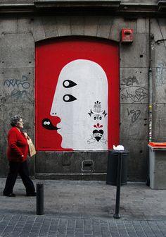 Street art (Madrid, Spain, 2008) by Remed