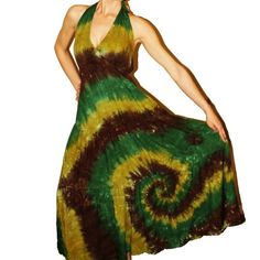 This might be the tie dyed wedding dress mentioned in the book.   Google Image Result for http://img.loveitsomuch.com/uploads/201209/11/ti/tie%2520dye%2520maxi%2520dress%2520the%2520boho%2520hippie%2520dress%2520-%2520you%2520choose%2520colors%2520and%2520size-%2520made%2520to%2520order%2520in%2520the%2520usa-f71816.jpg