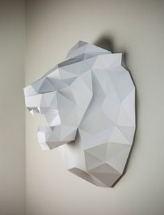 paper lion wall hanging