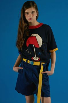 Stand graphic knitwear styling ADER IMAGE #ader#fashion#lookbook#editorial#image#photo#photography#styling#color#knitwear#belt