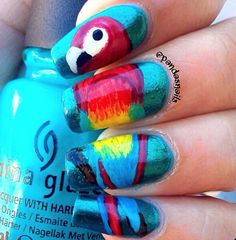 <3 These nails are the coolest design I've yet to find on Pinterest! I'm in love w these! <3