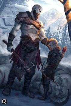 """""""Don't be sorry be better"""" - (Artist: Quirkilicious) [God of War] Character Inspiration, Character Art, Character Design, Good Of War, King's Quest, Arte Assassins Creed, Kratos God Of War, Gears Of War, Comic Pictures"""