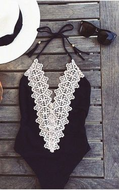Lace bathing suit