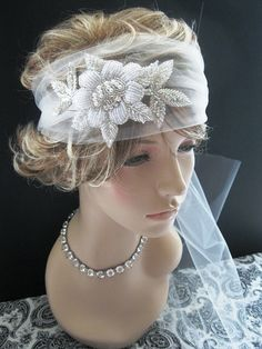 Wedding Headpiece Bridal Veil  RetroTulle by FascinatingCreations, $68.95