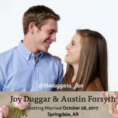 Joy-Anna Duggar and Austin Forsyth are married. Joy Anna Duggar, Duggar Girls, Jinger Duggar, Duggar Family Blog, Duggar Wedding, Justin Jackson, Jeremy Vuolo, Dugger Family, Bates Family