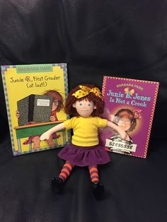 "Junie B. Jones 11"" Doll From Barbara Park's Series of Books With 2 Books"