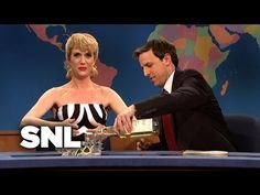 SNL - Kristin Wiig as Anniversary Barbie The History Chicks Podcast Episode 116 - The Story of Barbie Kristen Wiig Snl, Snl Saturday Night Live, Weekend Update, Barbie, Seth Meyers, Expo, 50th Anniversary, 50th Birthday