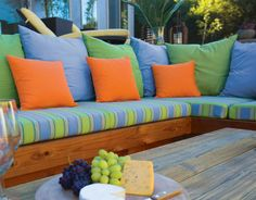 Sunbrella Outdoor Cushions are a great way to brighten up your outdoor space. From Our Blog at Design Connection, Inc. | Kansas City Interior Design http://designconnectioninc.com/blog/design-inspiration/outdoor-living-design-ideas-for-every-home #OutdoorLiving #OutdoorFurniture #InteriorDesign