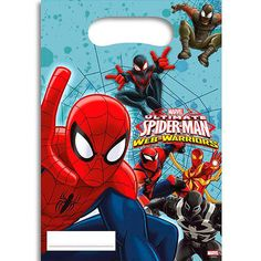 Spider-man #party bags - plastic loot #bags/favour - #1-40pk,  View more on the LINK: http://www.zeppy.io/product/gb/2/302108852163/