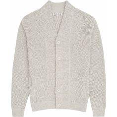 Denman OATMEAL CHUNKY KNIT CARDIGAN ❤ liked on Polyvore featuring tops, cardigans, chunky knit cardigan, oatmeal cardigan and denman