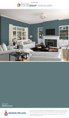 I found this color with ColorSnap® Visualizer for iPhone by Sherwin-Williams: Mediterranean (SW 7617).