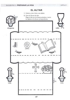 descubrir la misa. el altar