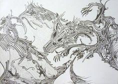 "Saatchi Online Artist Elena Mauri; Drawing, ""Demons"" #art"