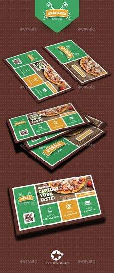 Pizza Shop Business Card Templates • Available here → http://graphicriver.net/item/pizza-shop-business-card-templates/15418193?s_rank=1&ref=pxcr