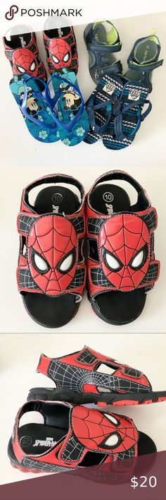 NWT Toddler Boy/'s Marvel Avengers Sandals XL 7//8 M and 11//12