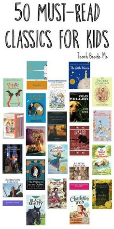 50 Must Read Classics for Kids : 50 Must Read Classics for Kids - Teach Beside Me Looking for a great book list for your kids? This is the list of must-read Classic books for kids! Plus a great resource for used books! Teaching Reading, Reading Lists, Book Lists, Kids Reading Books, Used Books, Great Books, Books To Read, Book Of Love, Must Read Classics