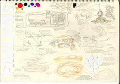 Pavilion Project - Sketchbook Interior Design Sketchbooks, Design Theory, Presentation Boards, Pavilion, Bullet Journal, Map, Architecture, Projects, Sketches