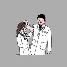 Cute Couple Drawings, Cute Couple Art, Cute Drawings, Medical Quotes, Medical Art, Anime Couples, Cute Couples, Medical Wallpaper, Nurse Art