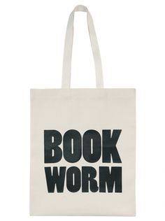 Good for carrying stuff.  Book Worm | Shop | Alphabet Bags