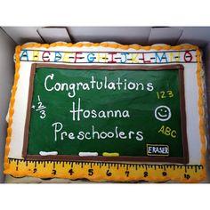 "Preschool ""Graduation"" School Themed Cupcake Cake"