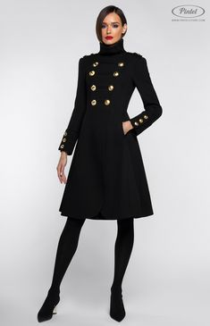 ed1751fcf99 Pintel™ Store — SHANICE — дизайнерское двубортное пальто из натуральной  фактурной шерсти (Italy)