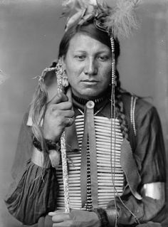 11 x 14 Photo Amos Little, a Sioux Indian from Buffalo Bill's Wild West Show