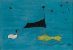 untitled, Joan Miro, 1927  Oil on canvas, 6 ¼ by 8 5/8 in. (16 by 22 cm)