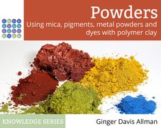Powders: guide to mica, pastels, metal, and dyes for polymer clay - The Blue Bottle Tree Polymer Clay Animals, Shattered Glass, Polymer Clay Miniatures, Blue Bottle, Powder Nails, Clay Tutorials, Miniature Tutorials, Sculpture Clay, New Things To Learn