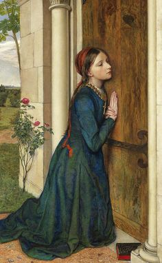 Devout Painting - The Devout Childhood Of Saint Elizabeth Of Hungary, 1852 by Charles Alston Collins