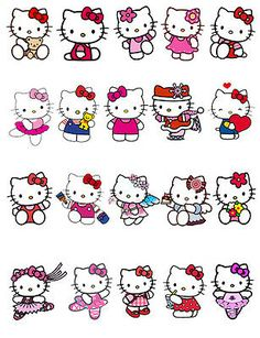 Hello Kitty Stand Up Edible Cake Toppers X 20 Hello Kitty Tattoos, Hello Kitty Art, Hello Kitty My Melody, Hello Kitty Birthday, Hello Kitty Christmas, Sanrio Hello Kitty, Hello Kitty Backgrounds, Hello Kitty Wallpaper, Hello Kitty Imagenes