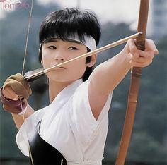 "Kyūdō Shōjo : Young Tomoyo Harada from ""Toki wo kakeru Shōjo"" 1983 / 弓道少女 : 原田知世…"
