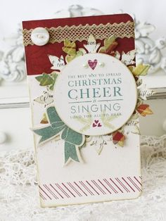 Christmas Cheer card by Melissa Phillips for Papertrey Ink (September 2011).